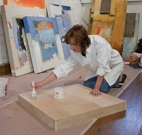 Sharon Booma in her studio
