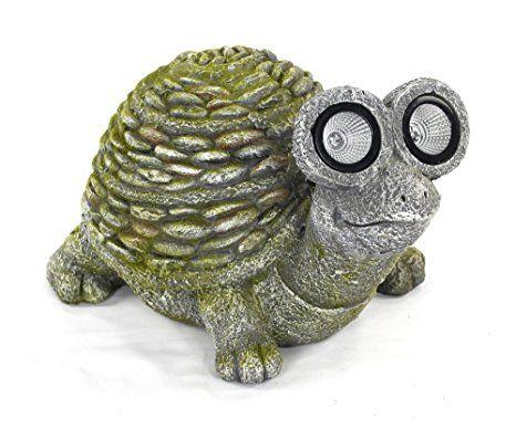 Solar Led Deko Tier Figur Schlidkröte Grün Groß Solarleuchten