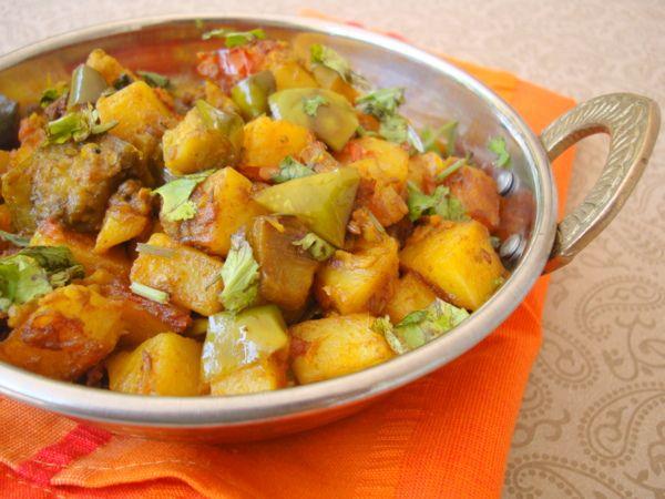 Aloo Baingan Sabzi Recipe Indian Food Recipes North Indian