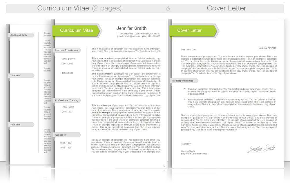 CV Template CV Template Package Includes Professional layout – Professional Document Templates