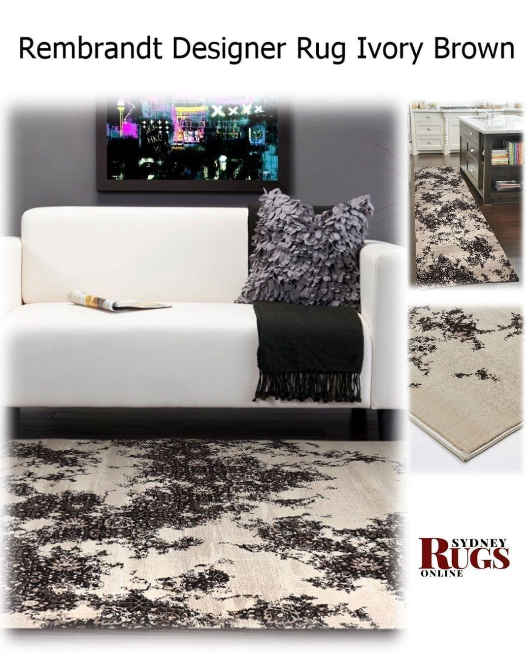 Posted Sydney Brown Ivory Rugs