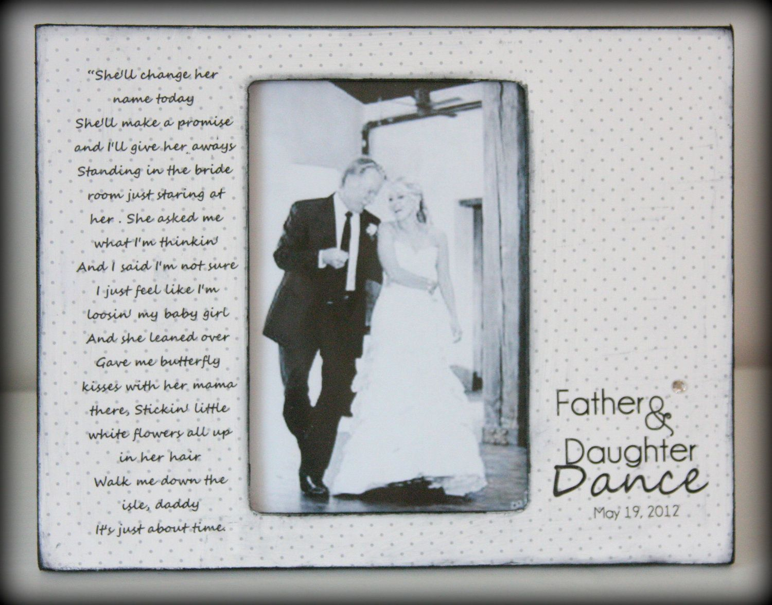 Father Daughter Wedding Gifts: Father Daughter Rustic Dance Sign Hand Stained Painted