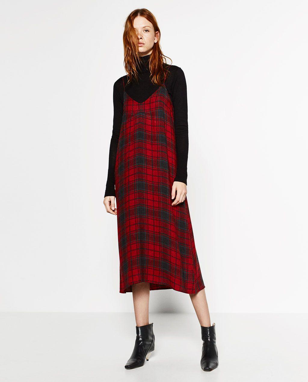 spesso Immagine 1 di ABITO LINGERIE A QUADRI di Zara | Fashion AW  KI55