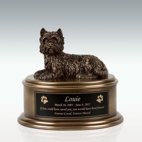 West Highland Terrier Figurine Cremation Urn Engravable Pm18871
