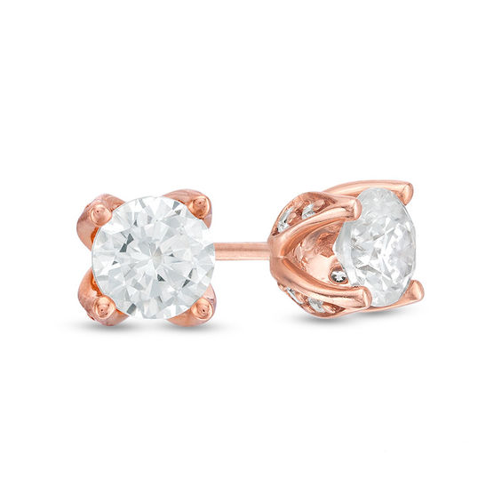 Zales 1/20 CT. T.w. Diamond Solitaire Star Stud Earrings in 10K Gold D0pzw