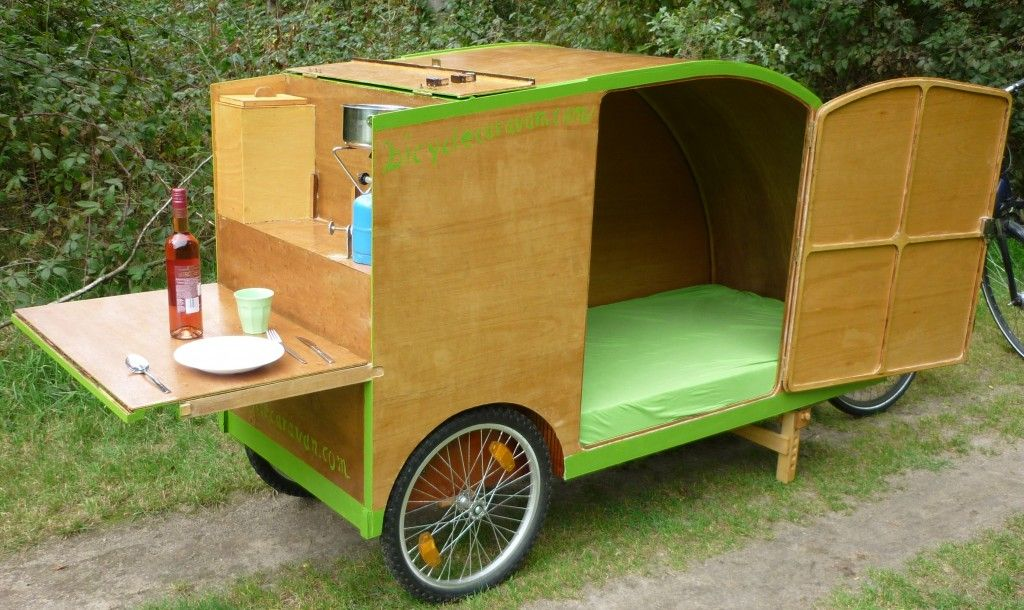 fietscaravan bicyclecaravan fahrrad wohnnwagen bicycle. Black Bedroom Furniture Sets. Home Design Ideas