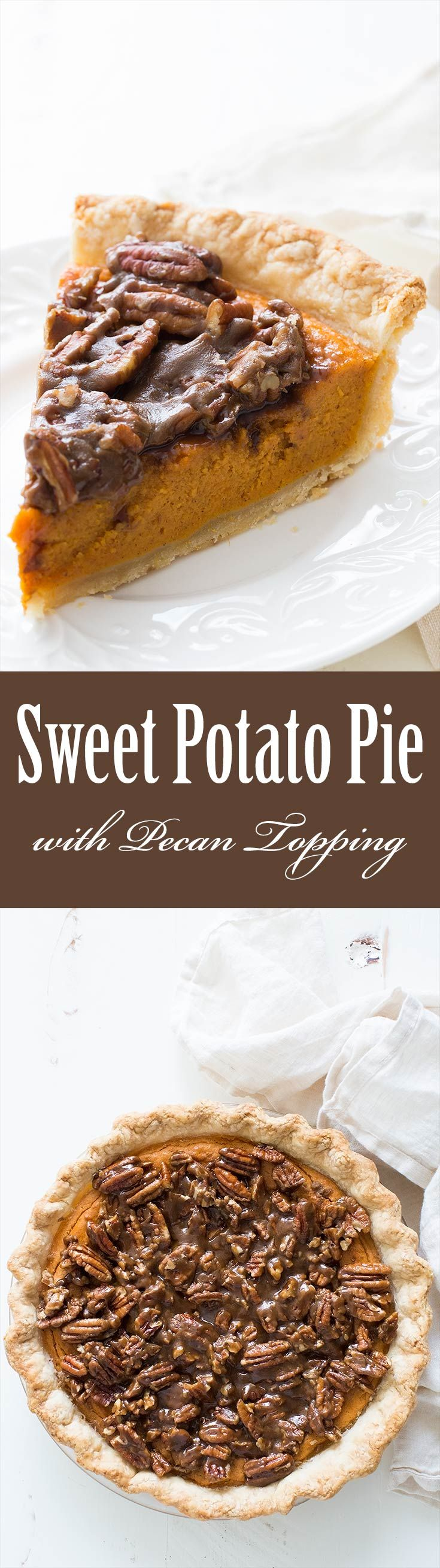 Sweet Potato Pie With Pecan Topping Simplyrecipes Com Recipe Sweet Potato Pie Pecan Topping Recipe Holiday Sweet Potato