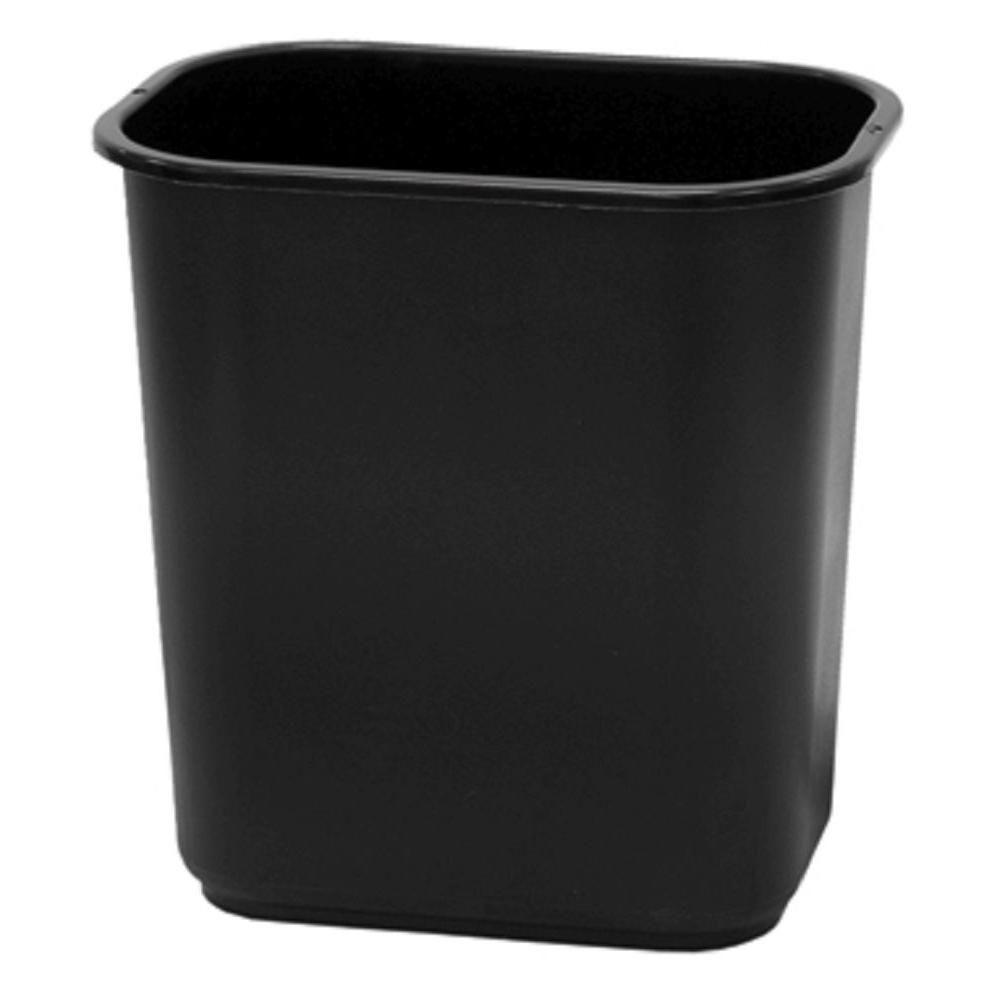 13 qt. Black Office Wastebasket