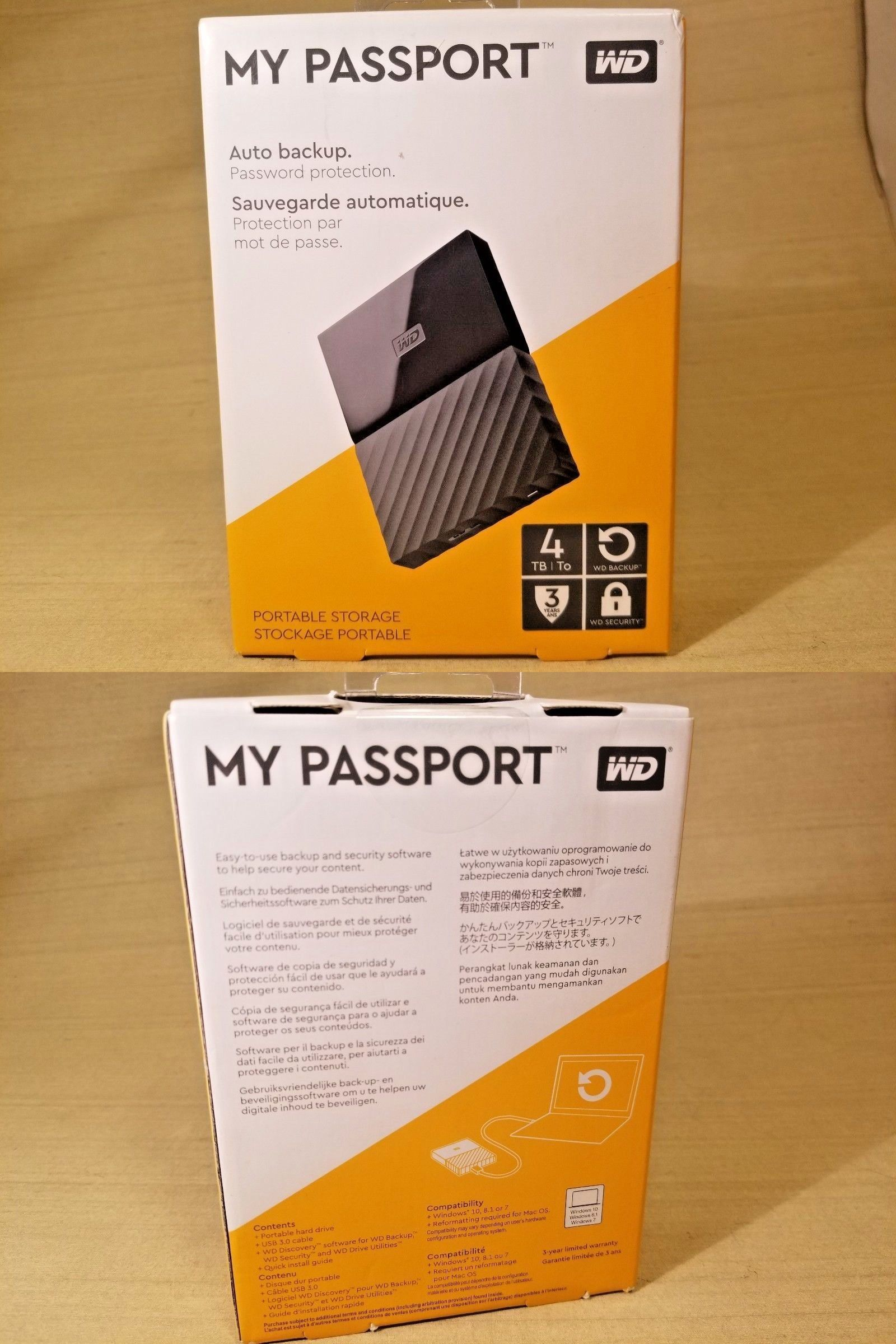 External Hard Disk Drives 131553: Wd - My Passport 4Tb