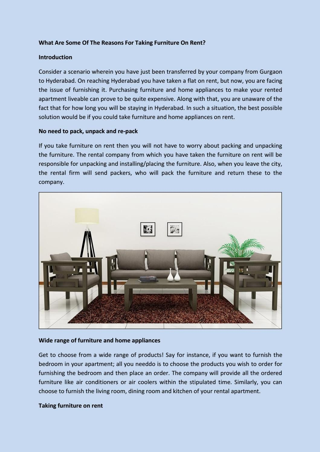 Al Furniture In Hyderabad At The