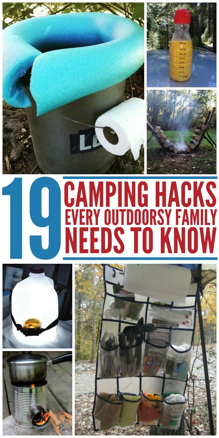 19 Camping Hacks Every Outdoorsy Family Needs to Know #campingideas