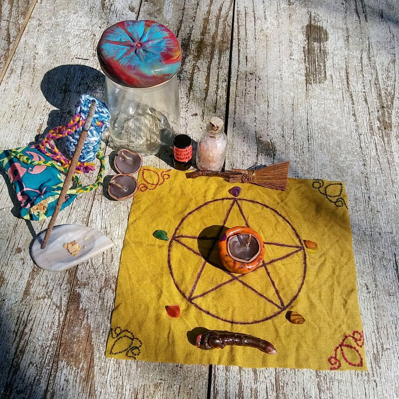 Altar in a Jar Mini Altar Kit Wiccan Pagan Gypsy by DharmaWyrd on ...