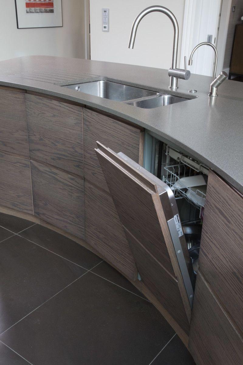 Futuristic Hidden Kitchen Storage For Elegant Interior Design Aida Homes Kitchen Furnishings Rounded Kitchen Cabinets Hidden Kitchen