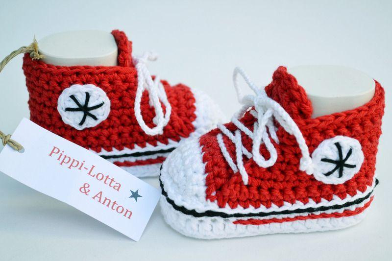Rote Baby Chucks Von Pippi Lotta Anton Auf Dawandacom