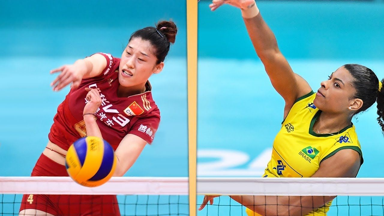 China V Brazil Final Round Full Game Highlights 2017 Fivb Volleyba Volleyball Articles Ball Exercises Beach Volleyball