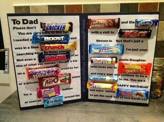 Awesome Birthday Card Dad Birthday Card Dad Birthday Candy Cards