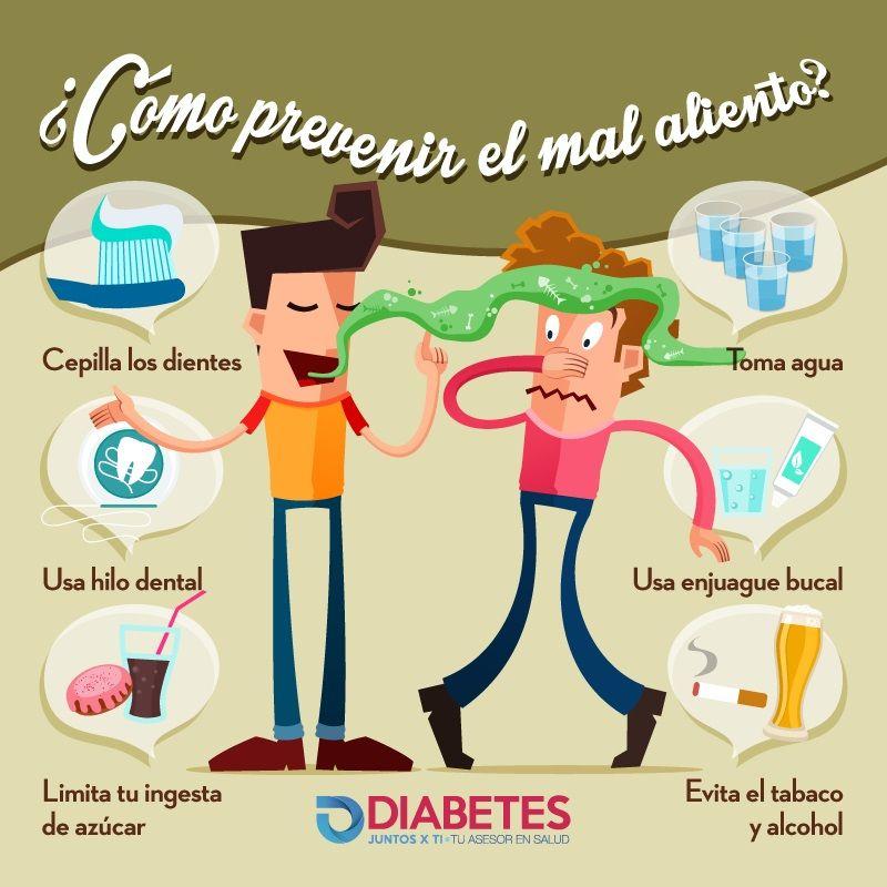 asociación de diabetes cetonas mal aliento
