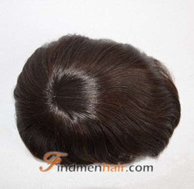Excellent Indian Remy Hair Dark Brown Realistic Mens Wigs Online Toupee Hairstyle Inspiration Daily Dogsangcom