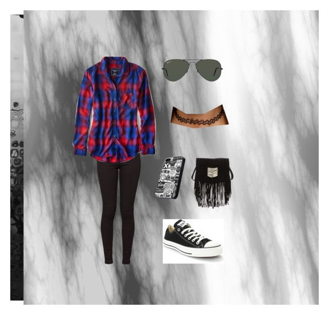 """""""Grunge"""" by irianarucker on Polyvore featuring American Apparel, American Eagle Outfitters, Ray-Ban, Converse and RAJ"""