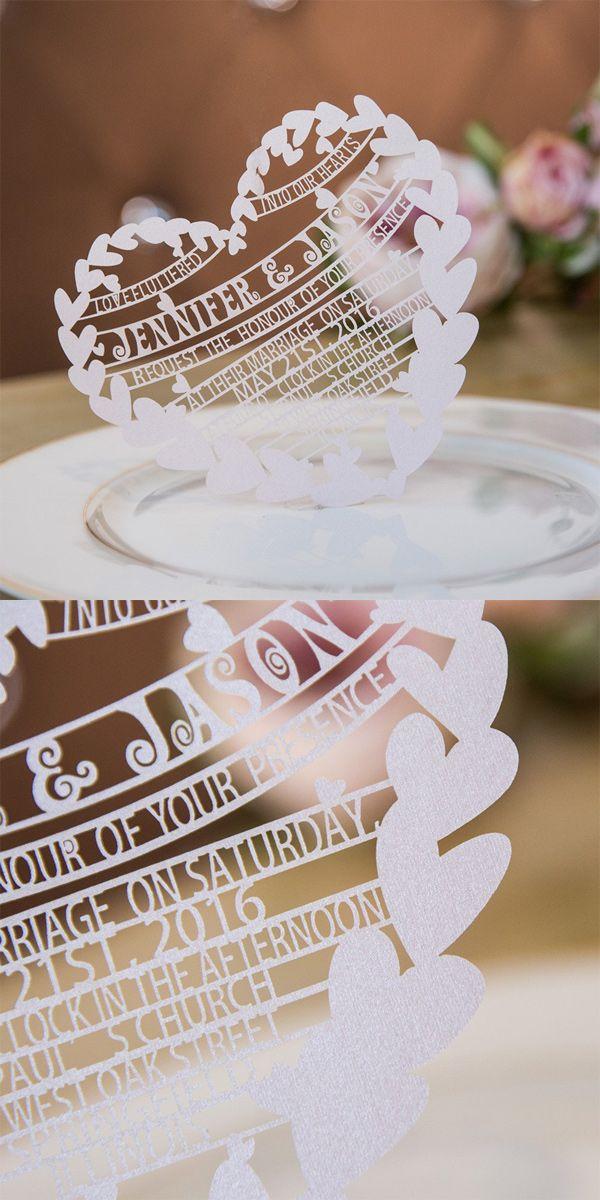 unique blush hearts laser cut wedding invitations swws020 member