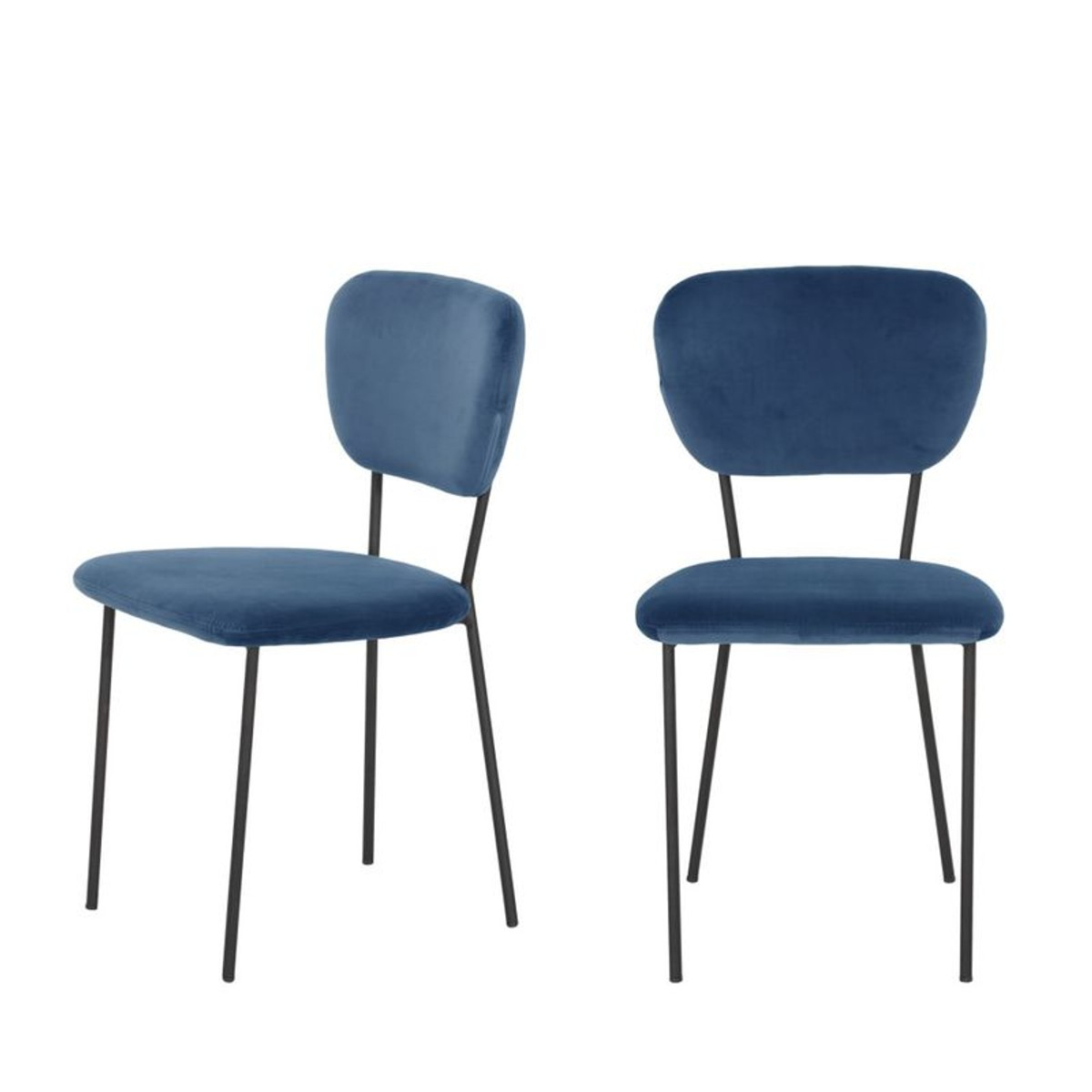 Lot De 2 Chaises Design En Velours Pia Taille Tu Chaise Design Chaise Salle A Manger Chaise