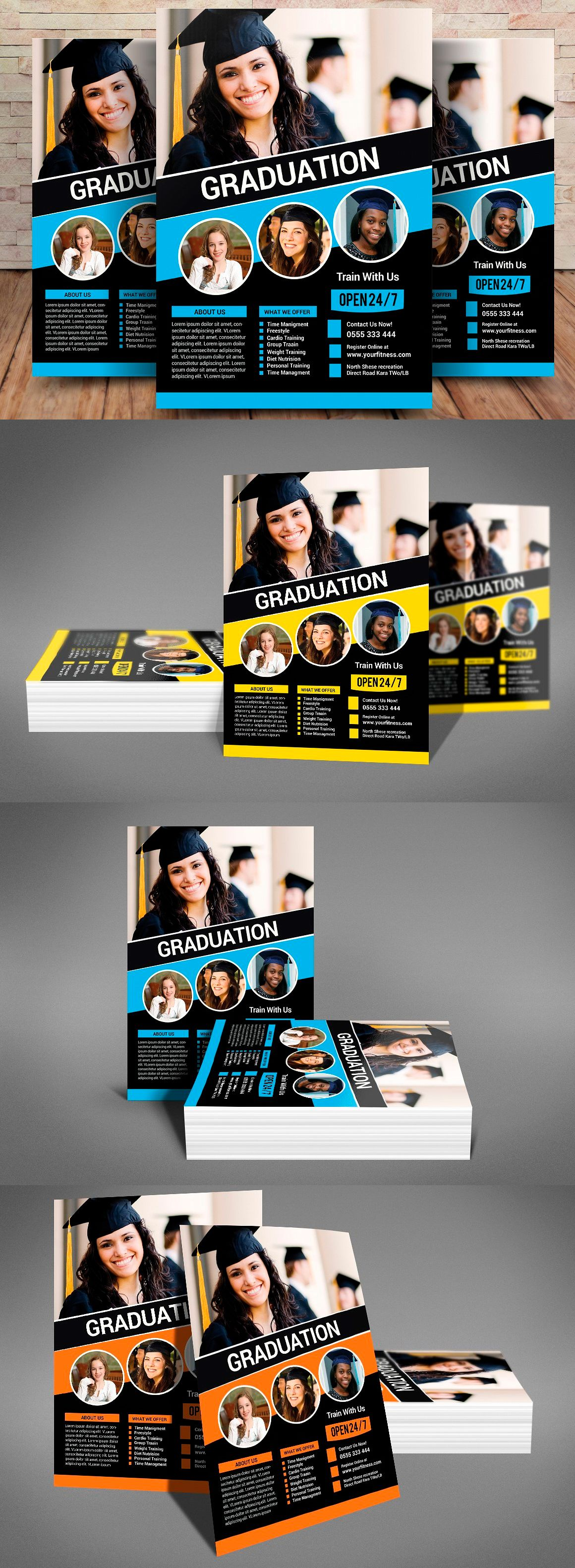 Magnificent Graduation Flyer Template Images - Entry Level Resume ...