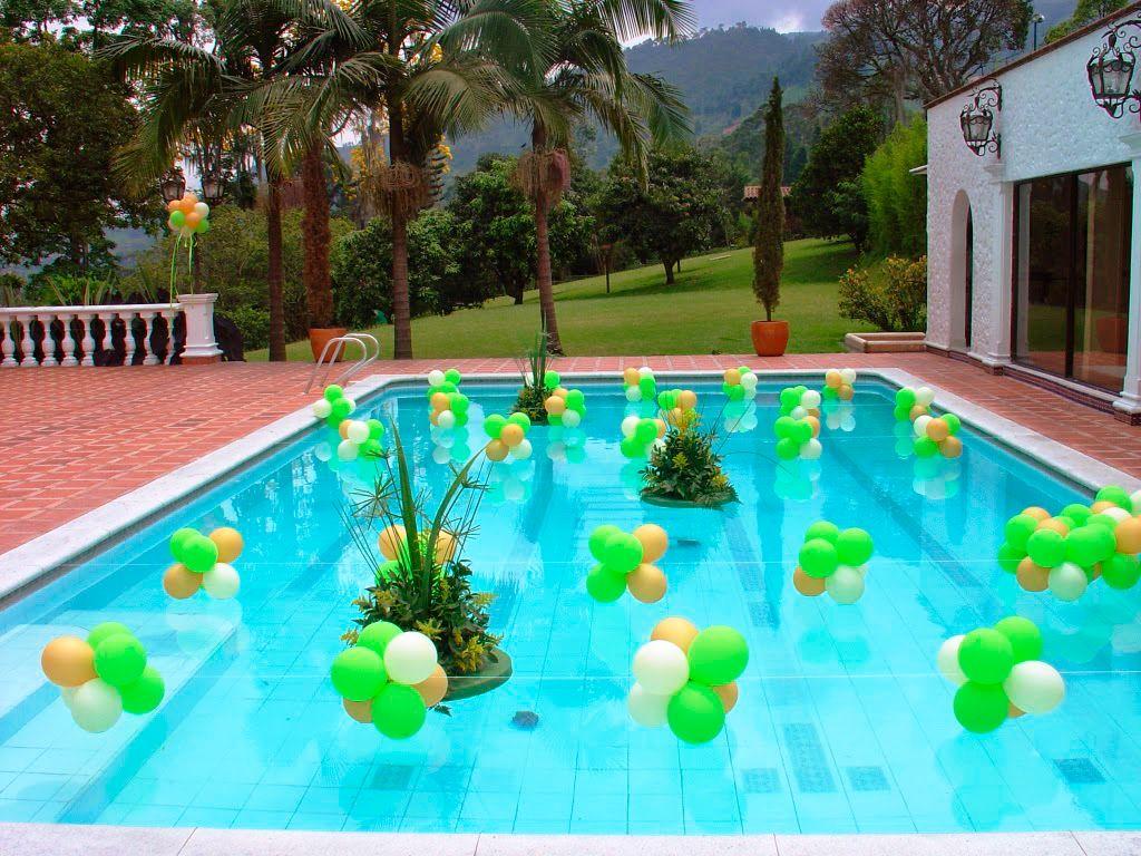 Resultado de imagen para decoraci n de piscinas para for Piscina party