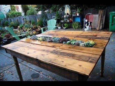 Как сделать обеденный стол для дачи. Очень не обычная идея! - YouTube