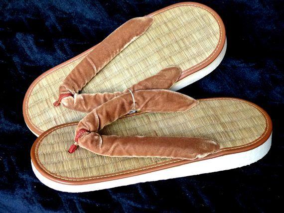 70 S Velvet Flip Flops Hawaii Vintage By Californiaseabreeze