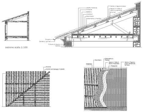 tetti in legno dwg roof dwg particolari costruttivi in