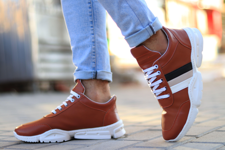 أحلى كوتشي جلد مستورد فقط ب 165ج Shoe Brands Wedge Sneaker High Top Sneakers