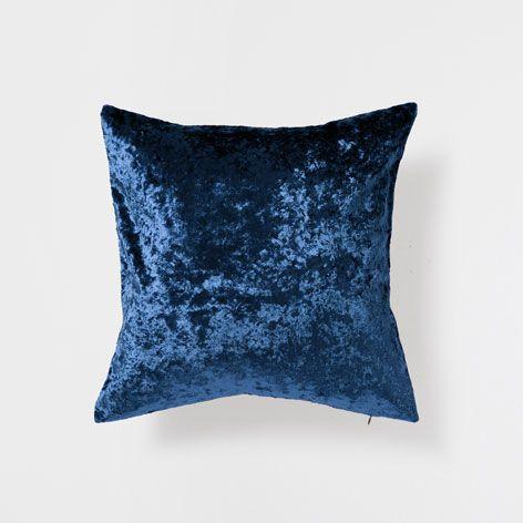 coussin velours uni bleu p trole coussins d coration zara home france chambre sindbad. Black Bedroom Furniture Sets. Home Design Ideas