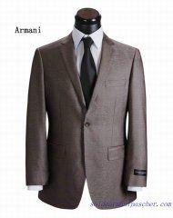 1aa12a0de76b Costume à un bouton Armani Homme Brun   Costume Armani Homme   Mens ...