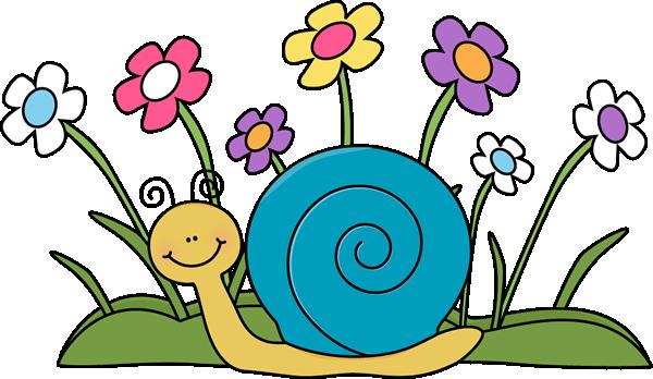 cute car clip art snail and flowers clip art image cute snail rh pinterest com au april showers bring may flowers clipart may flowers clipart free