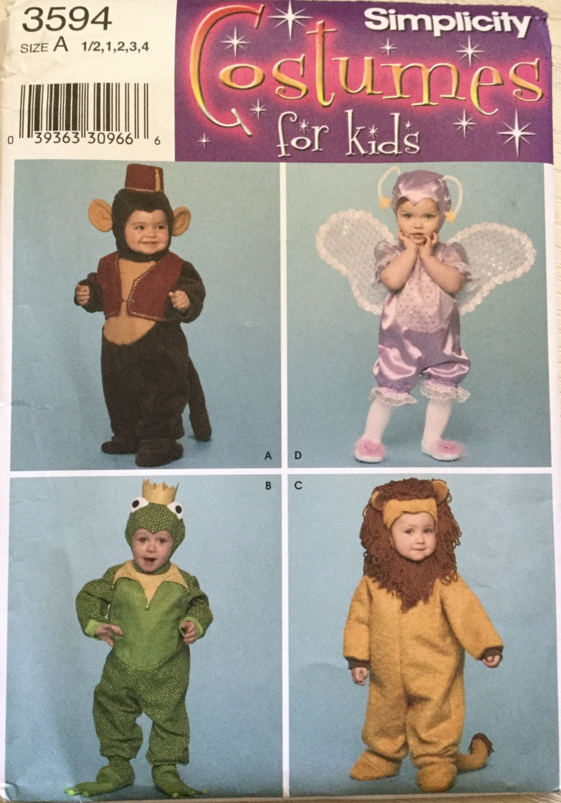 uncut pattern in factory fold sizes 6 months 3 fairy has attached wings