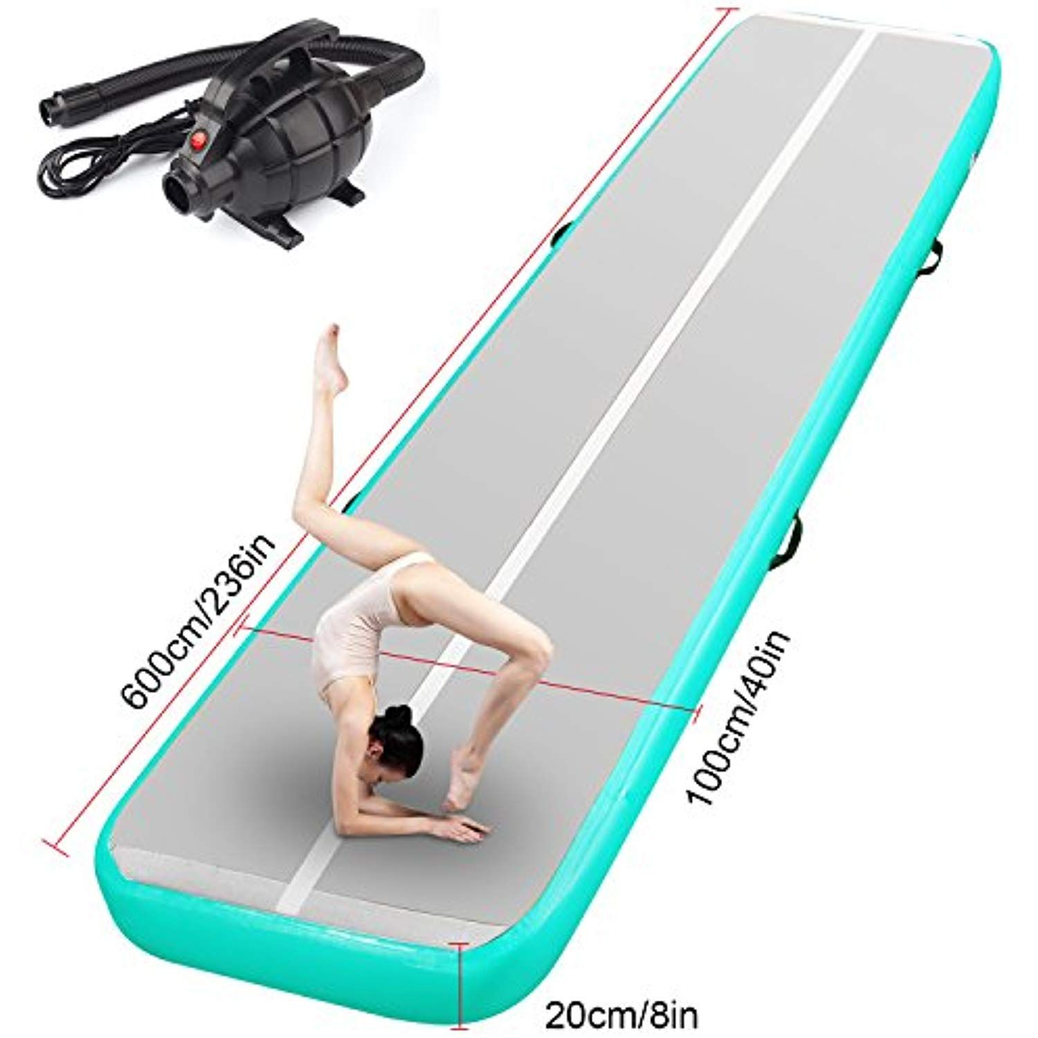 Fbsport 10ft 13ft 16ft 20ft Inflatable Gymnastics Mat Airtrack Tumbling Mat Non Slipping Floor Mattress With Air Pump Fo Tumble Mats Gymnastics Mats Gymnastics