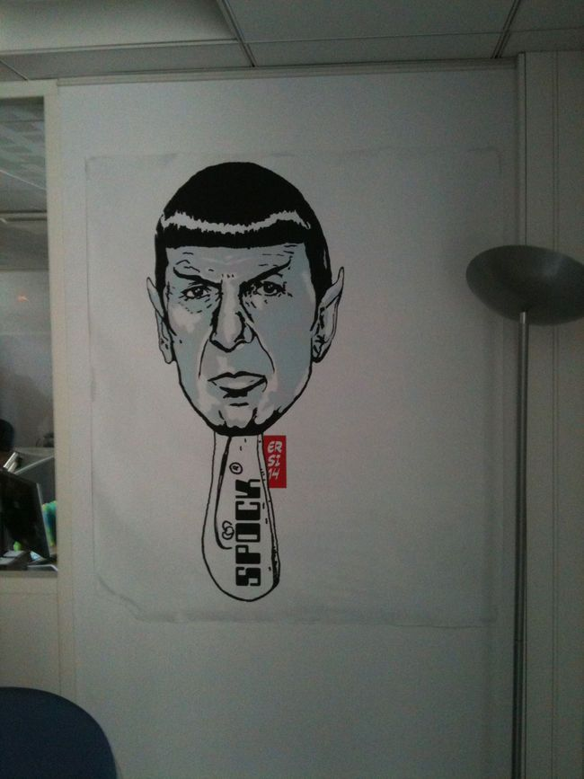 Cool Street Art Character By Ersi14 - Paris (France) |  Leonard Nimoy | Mr. Spock as street art.