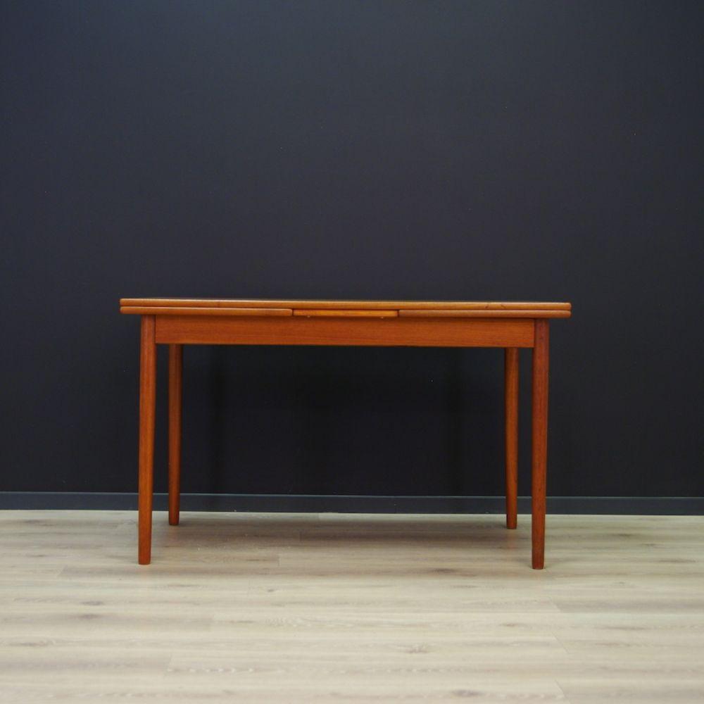 For Sale Scandinavian Design Dining Table In Teak Scandinavian