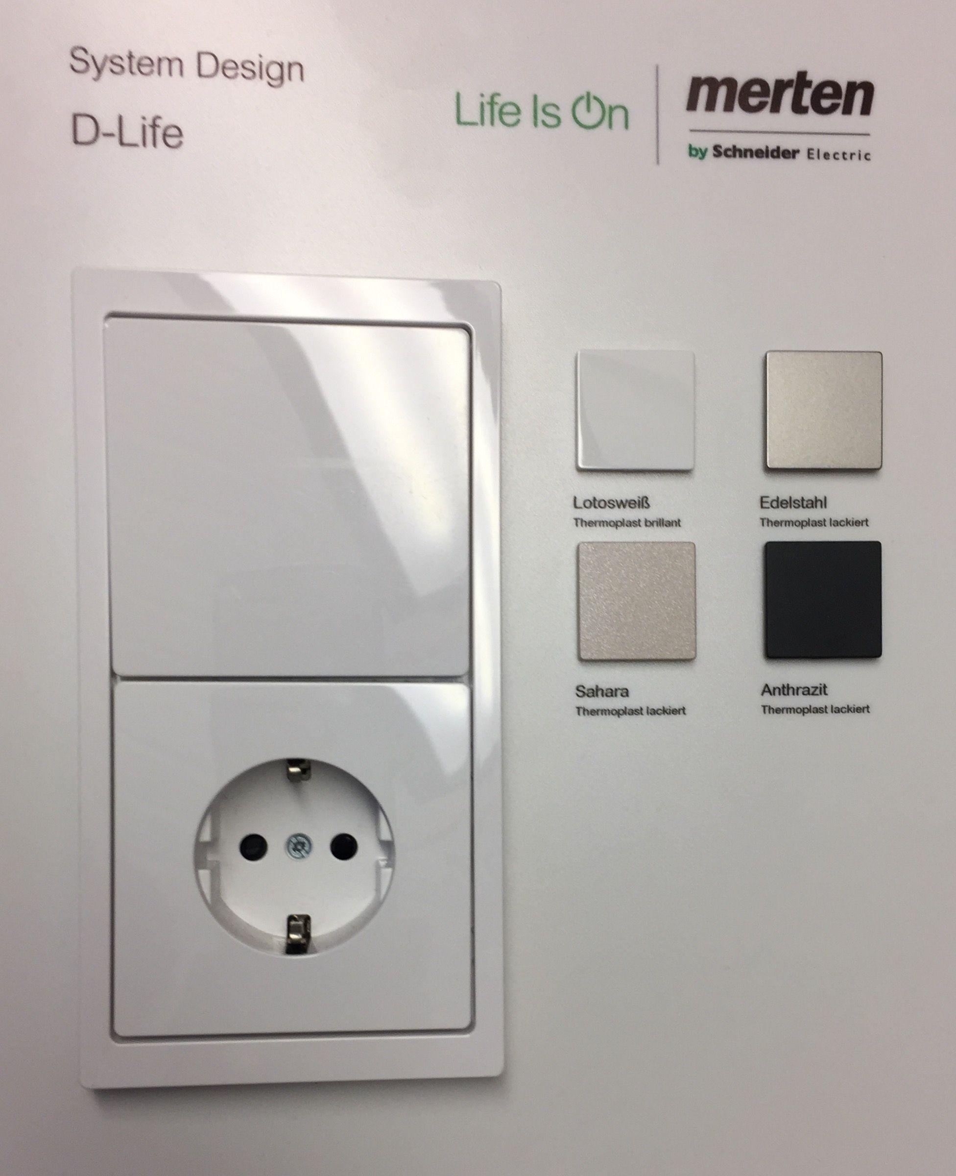 Merten D Life Schalter Und Steckdosen Schalter Und Steckdosen Steckdosen Und Lichtschalter Lichtschalter