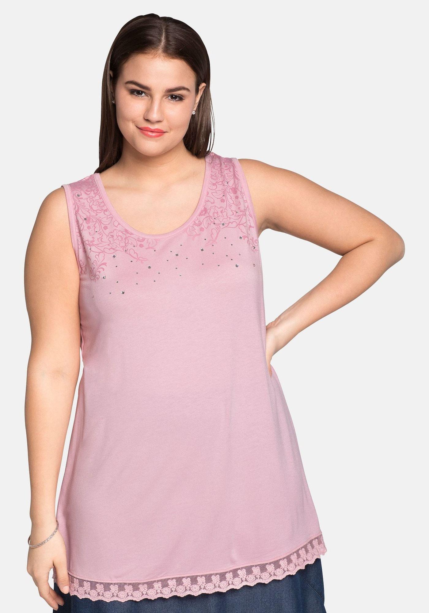 SHEEGO Top Damen, Rosa, Größe XL/XXL #rosaspitzenkleider SHEEGO Top Damen, Rosa, Größe XL/XXL #rosaspitzenkleider