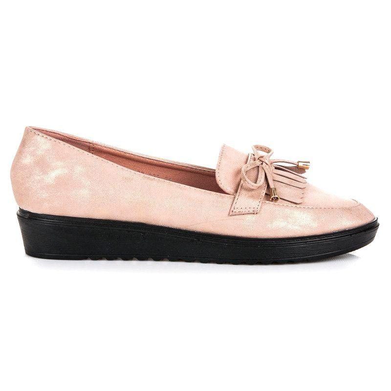 Queen Vivi Modne Mokasyny Na Wiosne Rozowe Boat Shoes Shoes Sperry Boat Shoe