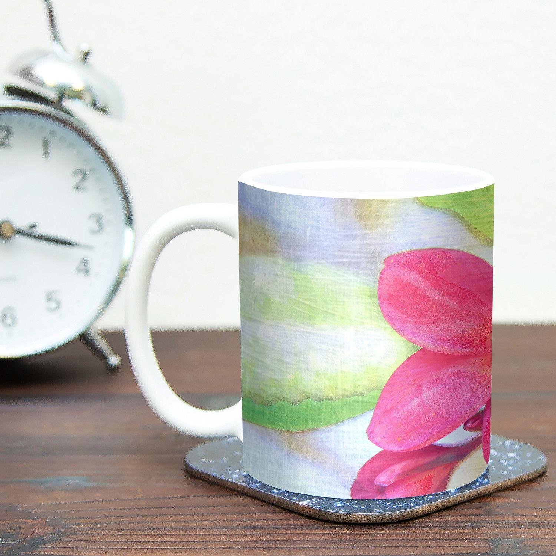Plumeria by Sylvia Cook 11 oz. Flower Petals Ceramic Coffee Mug