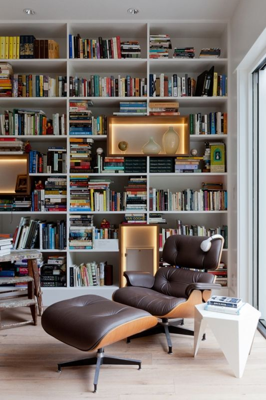 Open Study Room: Home Library Design, Home, Cozy Home Office