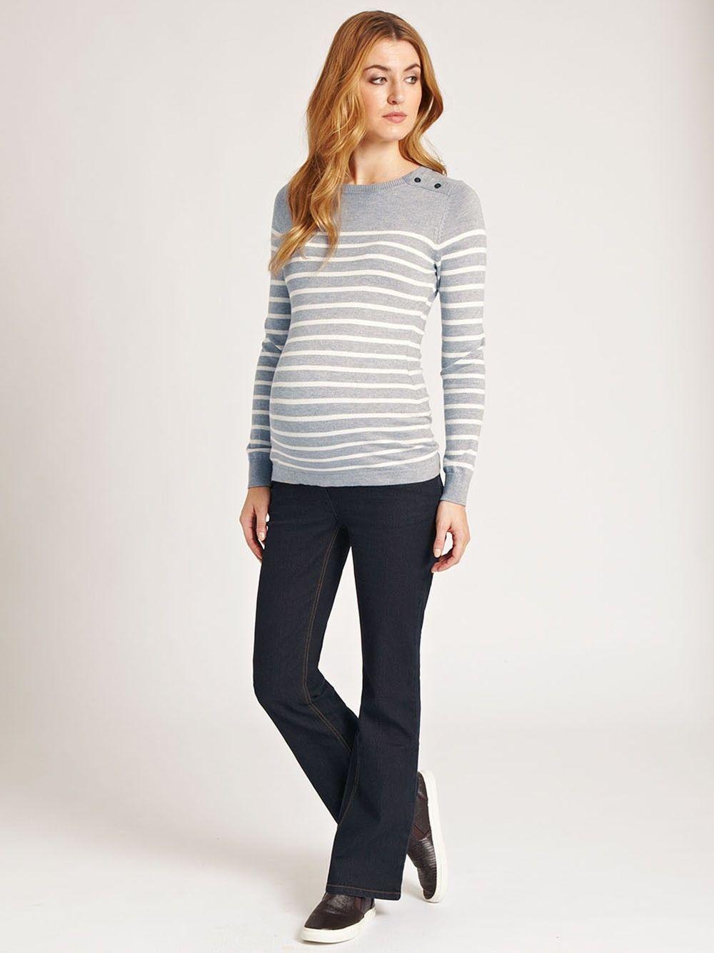 72f690ae4365c Breton Stripe Maternity Sweater | Riided | Maternity sweater ...