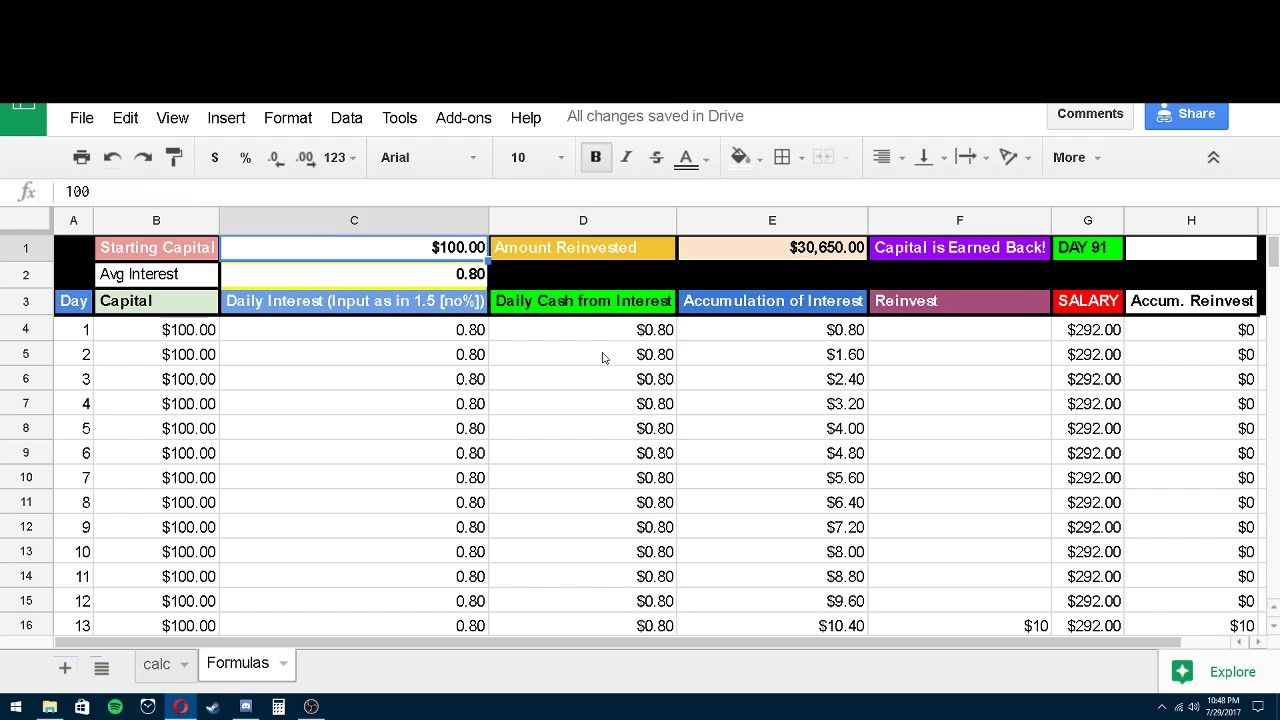 Calculate Compound Interest In Excel Compound Interest Interest Calculator Personal Finance Lessons