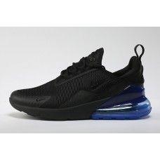 super popular 7e461 3b161 Goedkope Nike Air Max 270 Flyknit Aanbieding Heren Dames Sportschoenen  Zwart Royal Blauw, NU 70