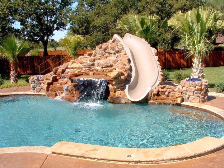 20 Exquisite Waterfalls Designs For Pools Inground Backyard Pool