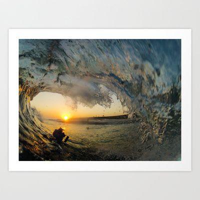 Shimmering Sunset Art Print by Luke Forgay - $22.88