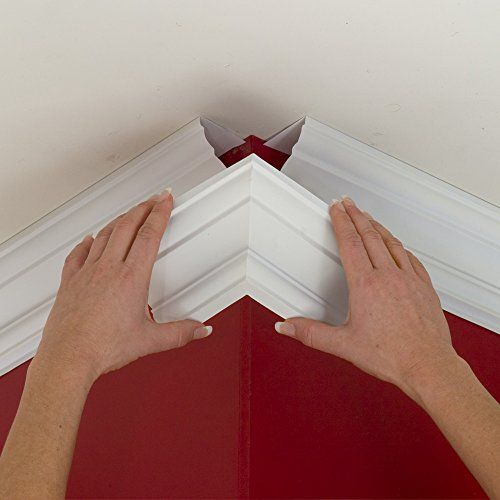 Easy crown molding peel and stick crown molding 4 inch for 9 inch crown molding