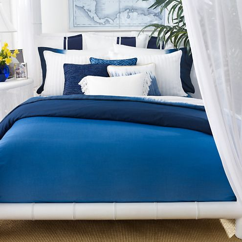 Modern White And Blue Bedroom bedding crush: ralph laurens indigo modern, on sale! | sheppard